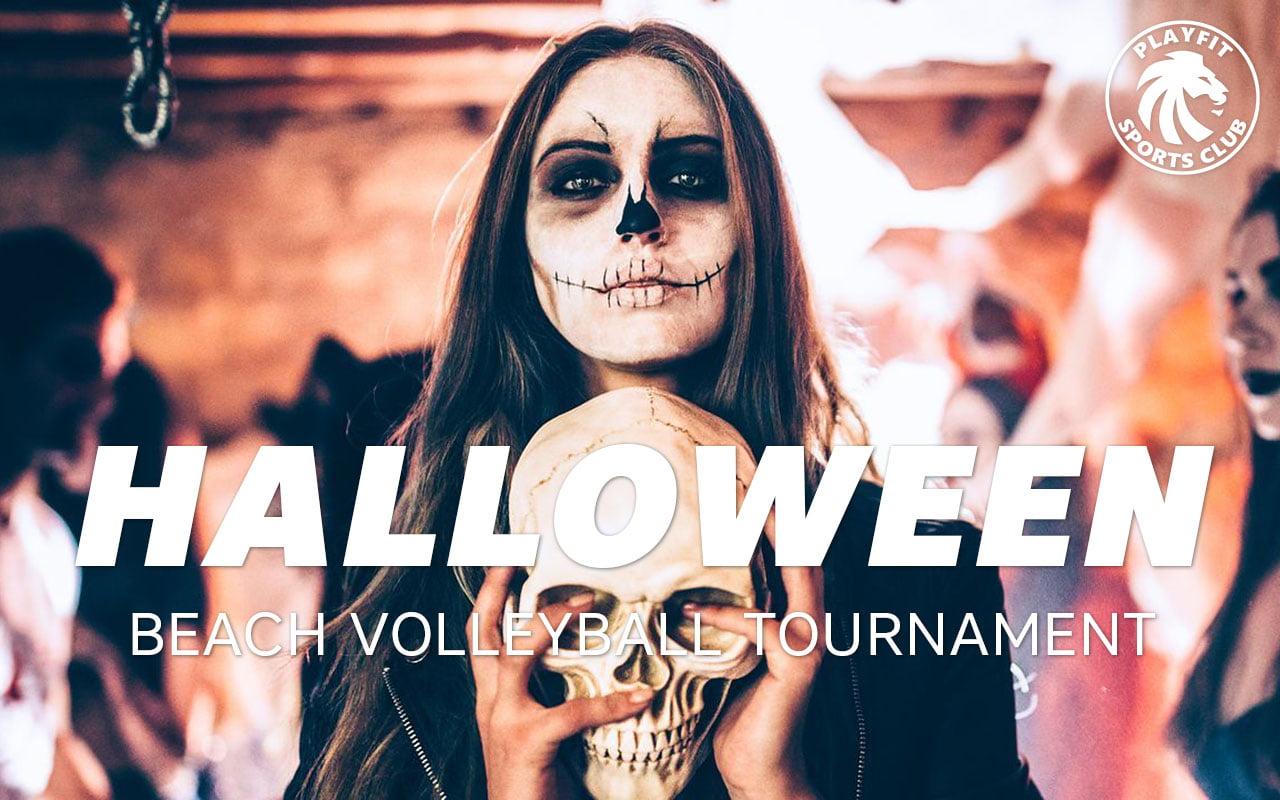 Halloween beach volleyball tournament