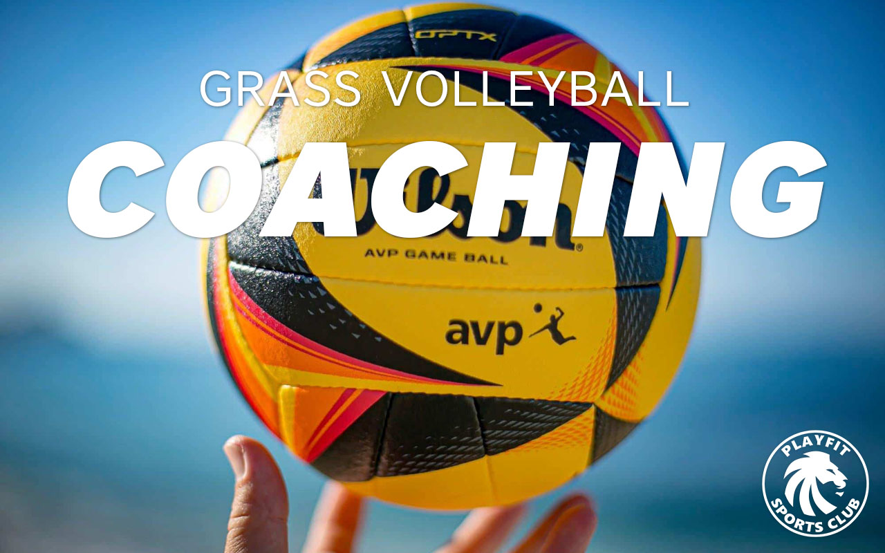 Outdoor grass volleyball coaching sessions