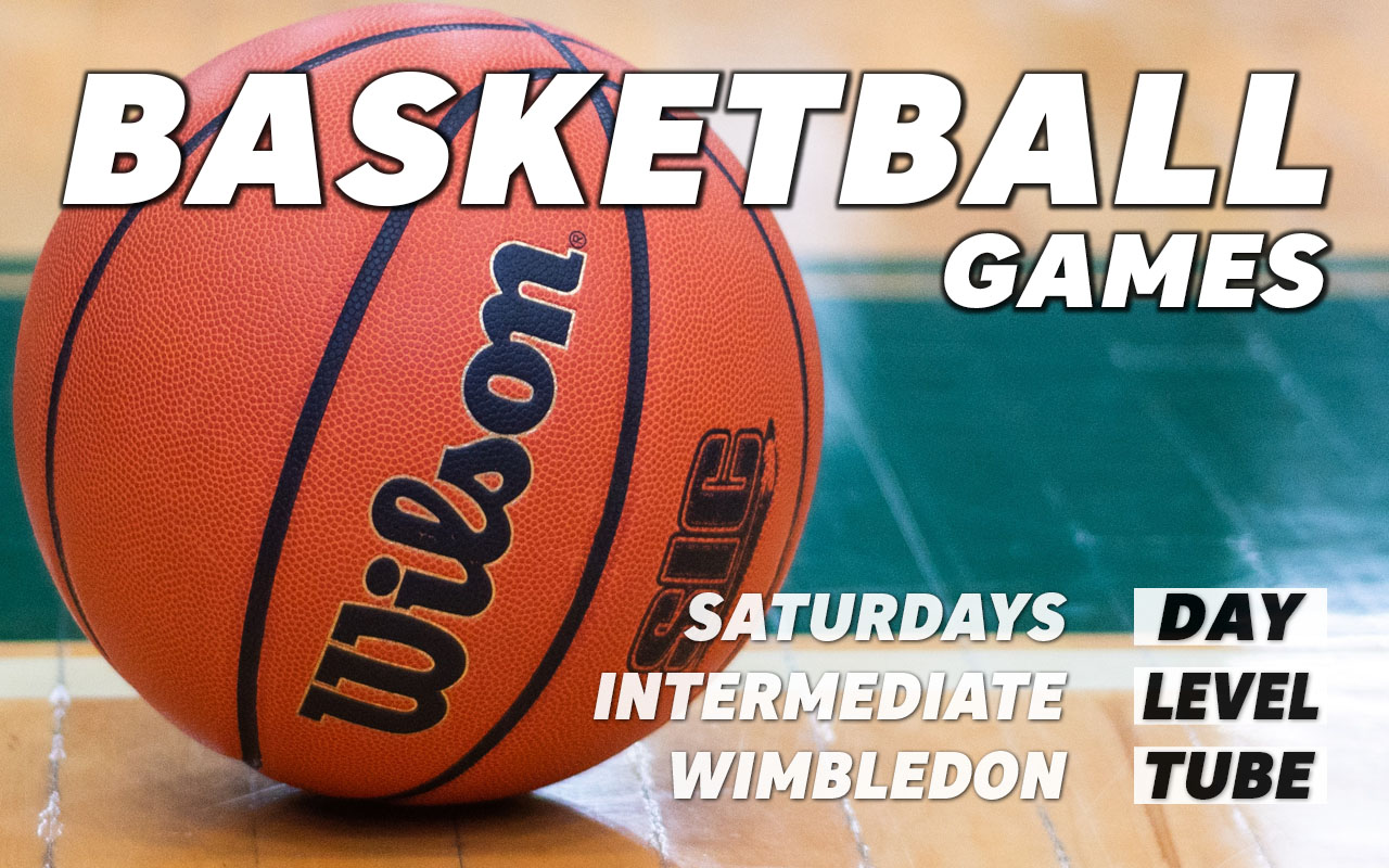 Basketball games for intermediate level players on Saturdays in Wimbledon in south west London Merton