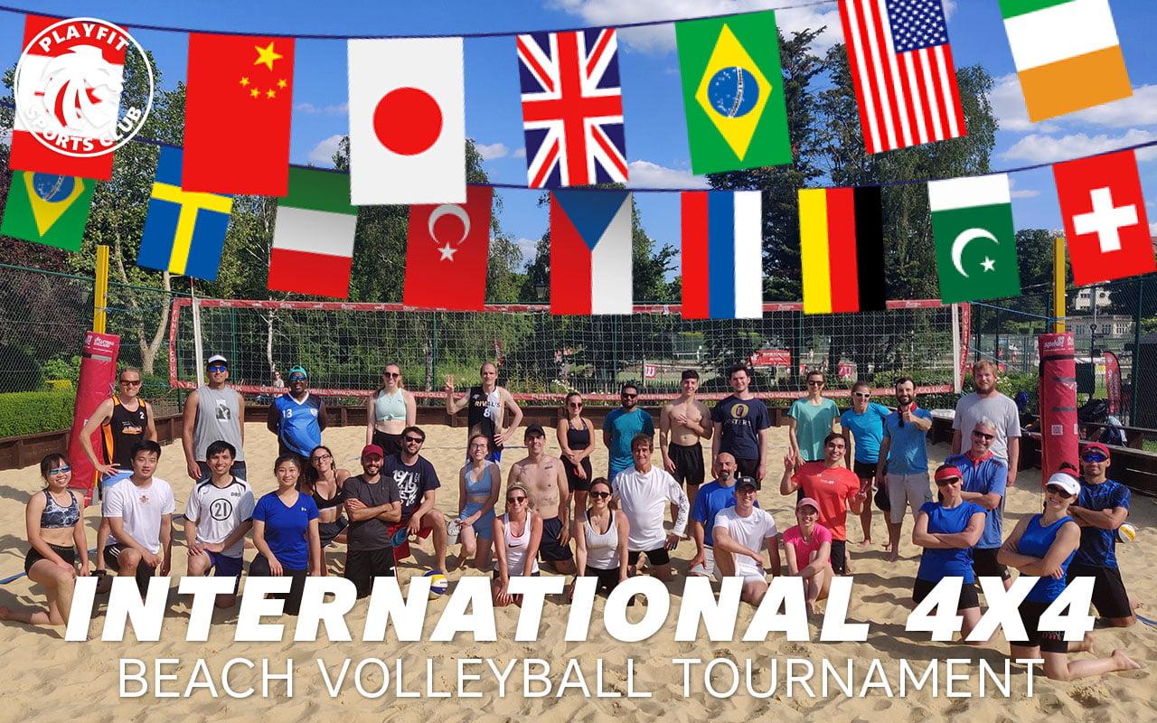 International 4x4 beach volleyball tournament