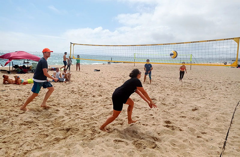 beach volleyball in Bournemouth