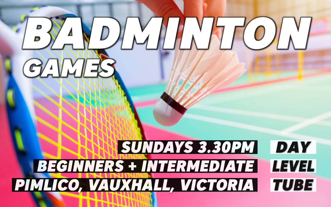 Badminton sessions on Sundays in London