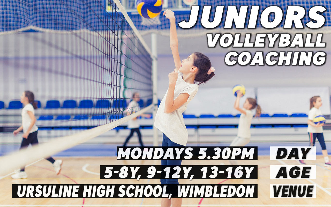 Kids indoor volleyball courses in Wimbledon London