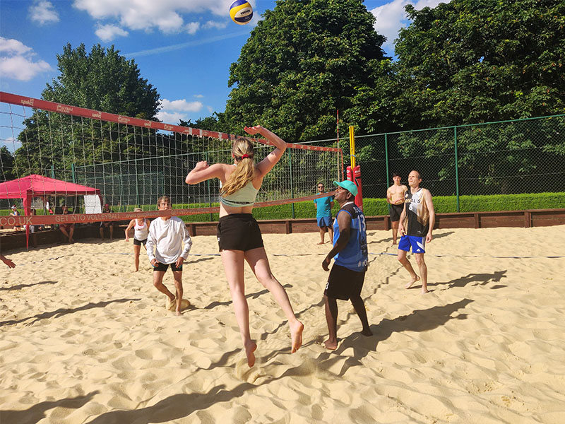 beach volleyball in London