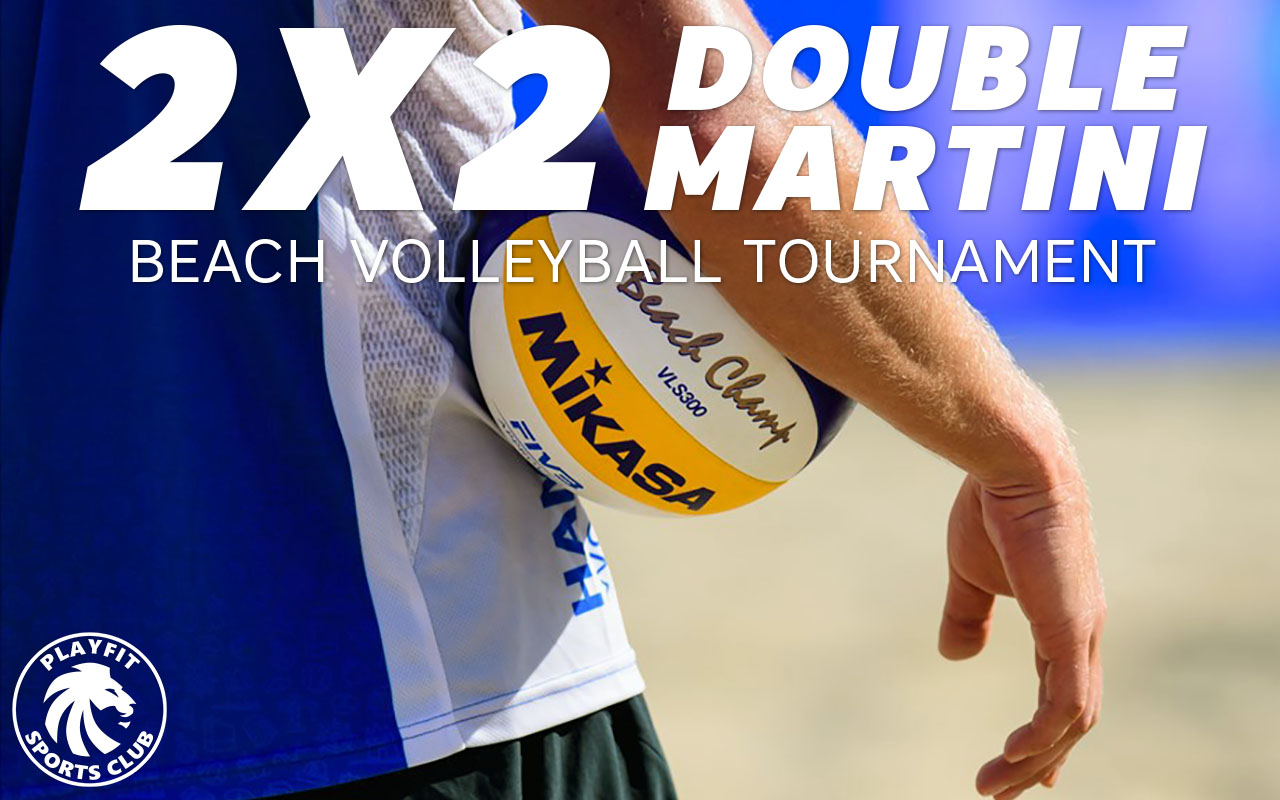 Double Martini 2x2 beach volleyball tournament on Saturdays in London